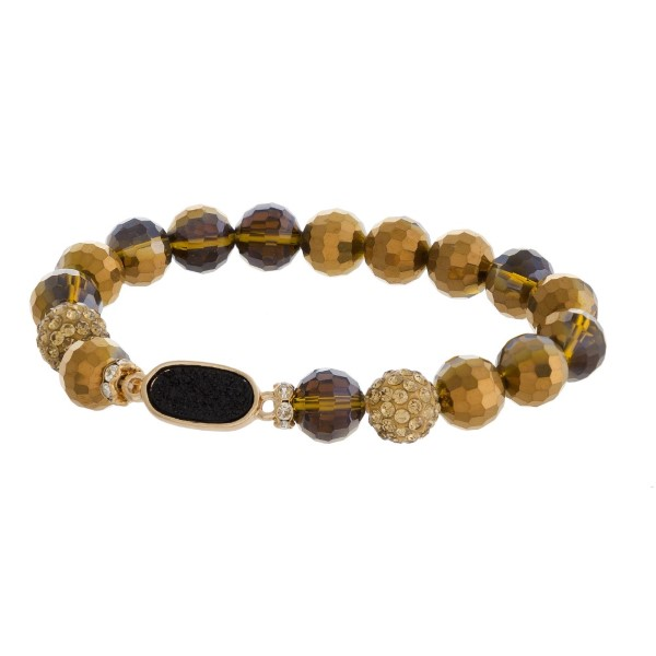 Wholesale beaded stretch bracelet druzy