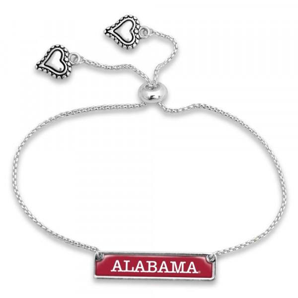 Wholesale officially licensed silver adjustable bracelet university name