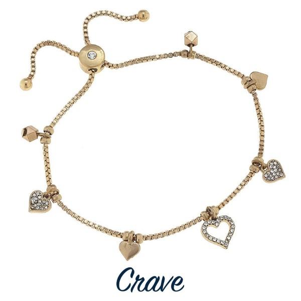 Wholesale adjustable metal bracelet charm detail