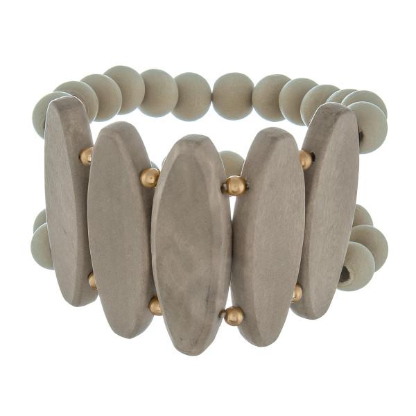 Wholesale stretch wood beaded bracelet Approximate