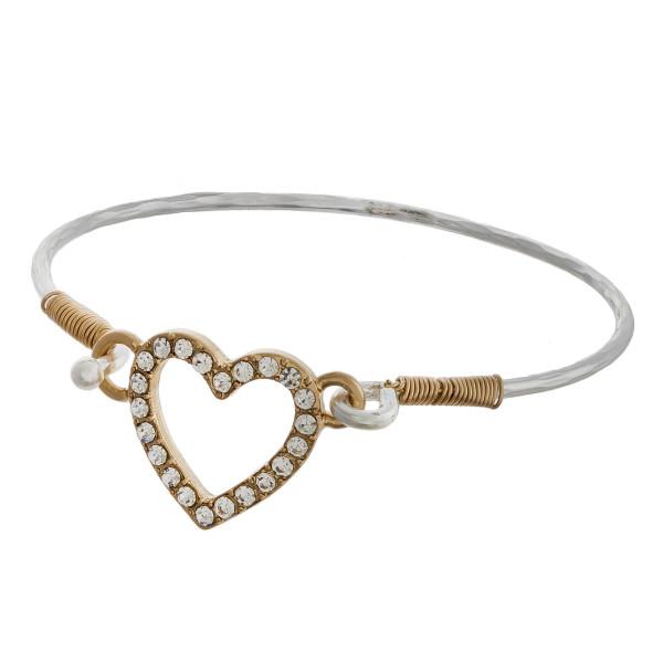 Wholesale metal cuff bracelet rhinestones Approximate diameter