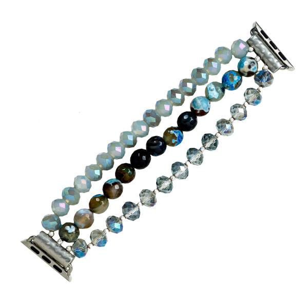 Wholesale beaded stretch bracelet smart watches Fits mm smart watch WATCH NOT IN