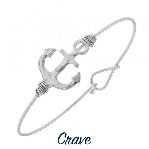 Wholesale gorgeous wire bracelet anchor detail Approximate diameter