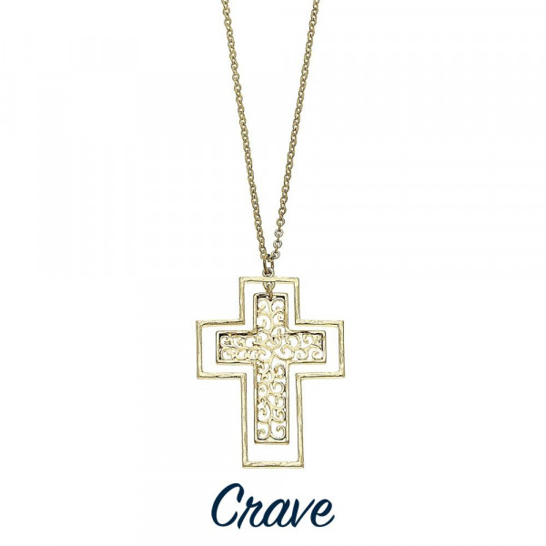 Wholesale long filigree cross necklace chain extender Chain long Pendant tall