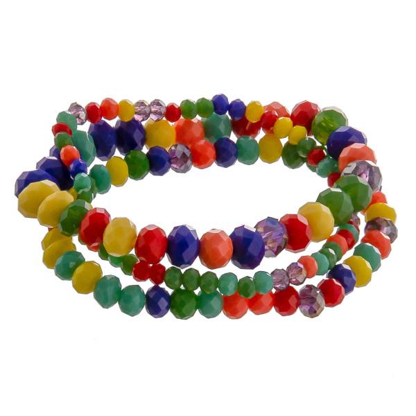 Wholesale multi strand beaded bracelet Approximate