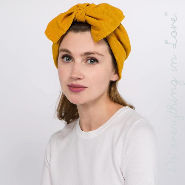 Wholesale do everything Love brand knotted bow headwrap One fits most Cotton