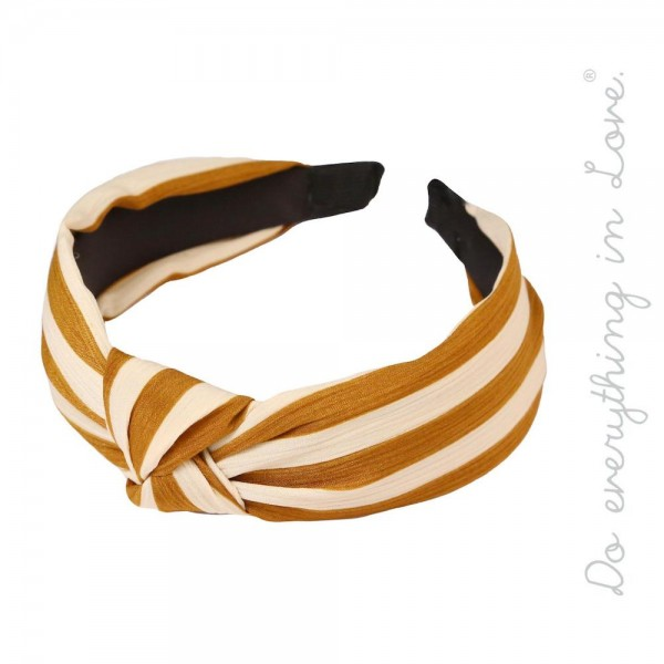 Wholesale do everything Love brand knotted striped headband One fits most adults