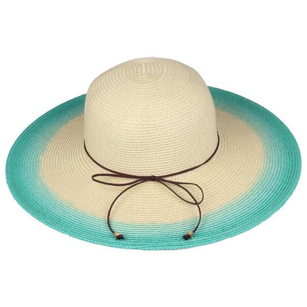 Wholesale c C brand ST ombre brim hat paper straw polyester UPF