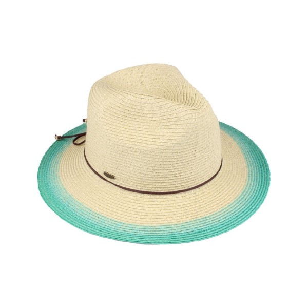 Wholesale c C brand ST ombre panama hat paper straw polyester UPF