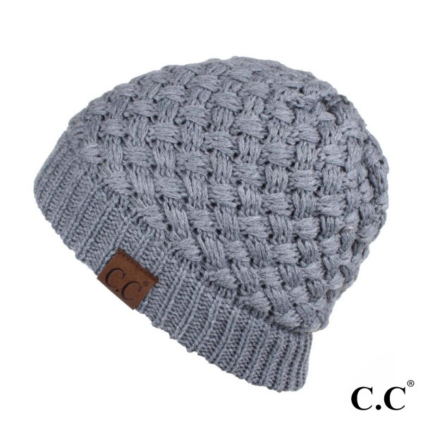 Wholesale hAT Ribbed knit C C Beanie acrylic