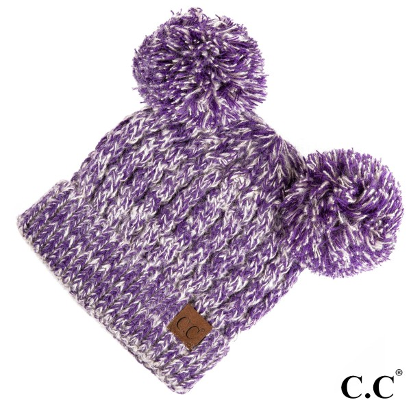 Wholesale c C HAT Double pom beanie Acrylic One fits most