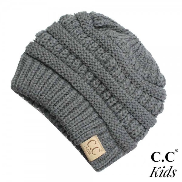 Wholesale c C MB KIDS Solid color messy bun beanie kids Acrylic One fits most
