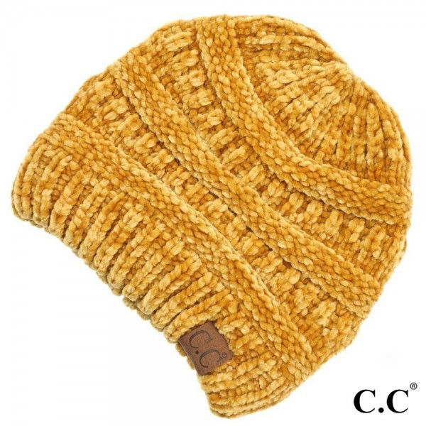 Wholesale c C HAT Chenille ribbed beanie One fits most Chenille
