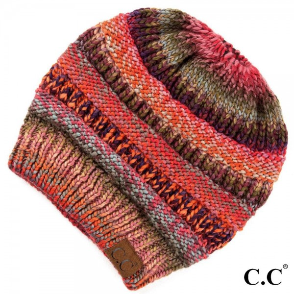 Wholesale c C MB Multicolor messy bun beanie Acrylic One fits most