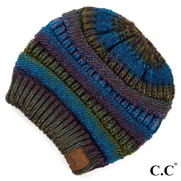 Wholesale mB CC Multi color beanie tail hat Acrylic One