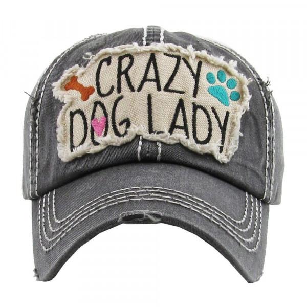 Wholesale crazy dog lady embroidered vintage ball cap washed details cotton Adju