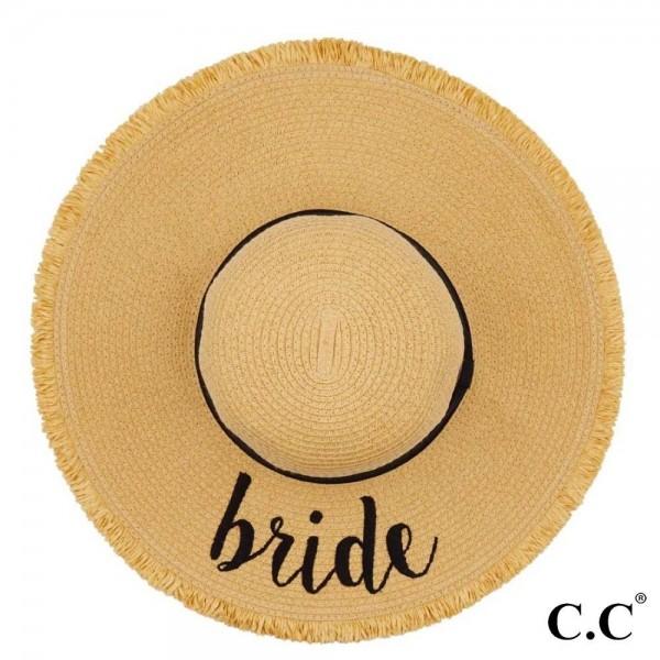 Wholesale c C ST Natural Bride paper straw fringe trim brim sun hat ribbon One f