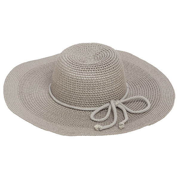 Wholesale gray brimmed hat bow accent paper polyester Hat brim diameter