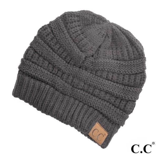 Wholesale original C C beanie dark melange gray acrylic diameter