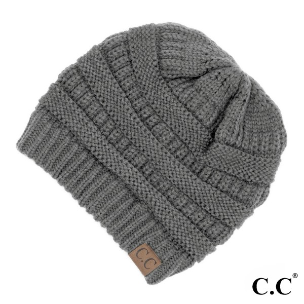 Wholesale original C C beanie light melange gray acrylic diameter
