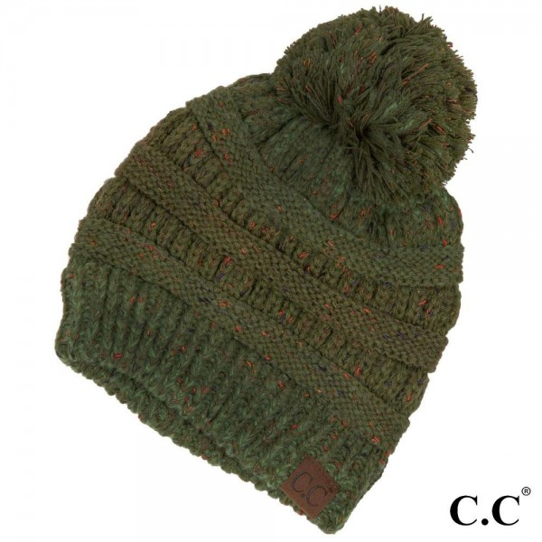 Wholesale c C YJ Ombre ribbed confetti knit beanie Acrylic One fits most