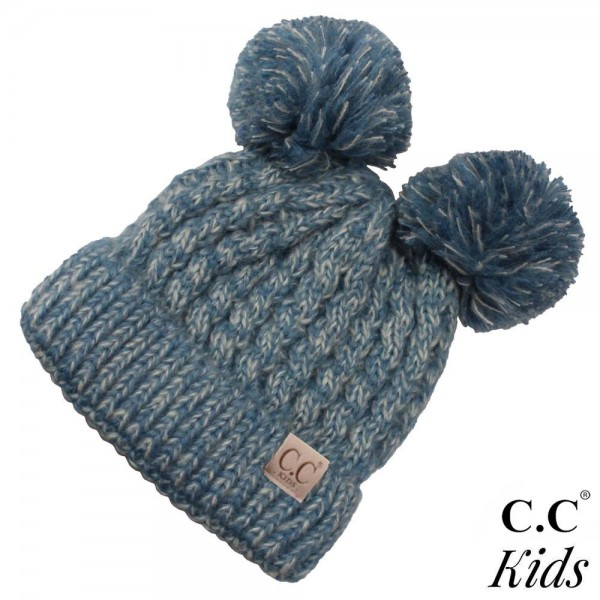 Wholesale c C Kids exclusive beanie two pom poms acrylic diameter Approximate fi