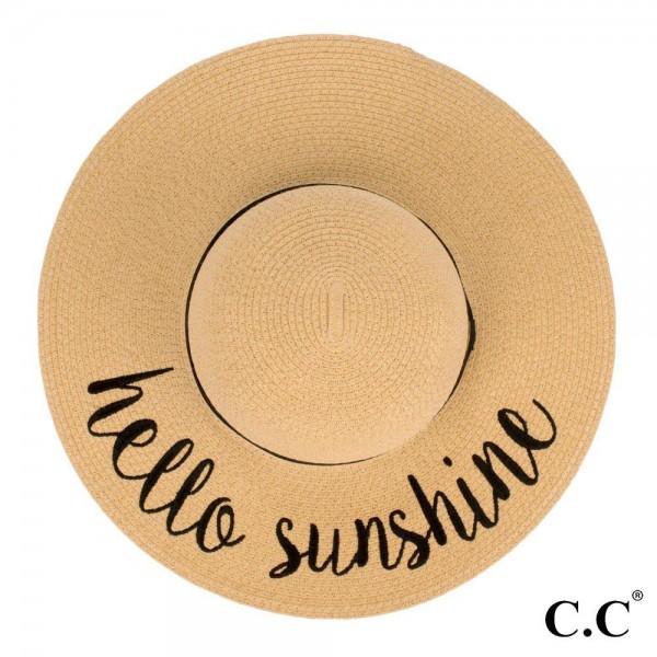 Wholesale c C ST brim floppy beach hat Hello Sunshine hat crushable packable abl