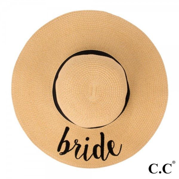 Wholesale c C ST Natural Bride paper straw brim sun hat ribbon One fits most Ins