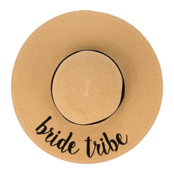 Wholesale c C ST Natural Bride Tribe paper straw brim sun hat ribbon One fits mo