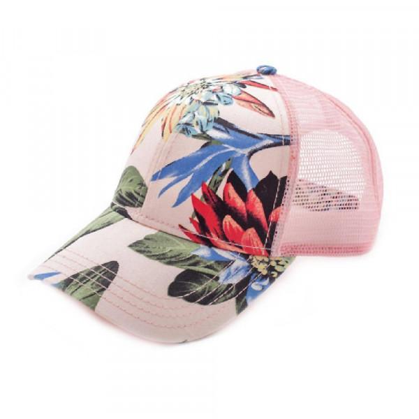 Wholesale c C brand floral print trucker s cap cotton One fits most