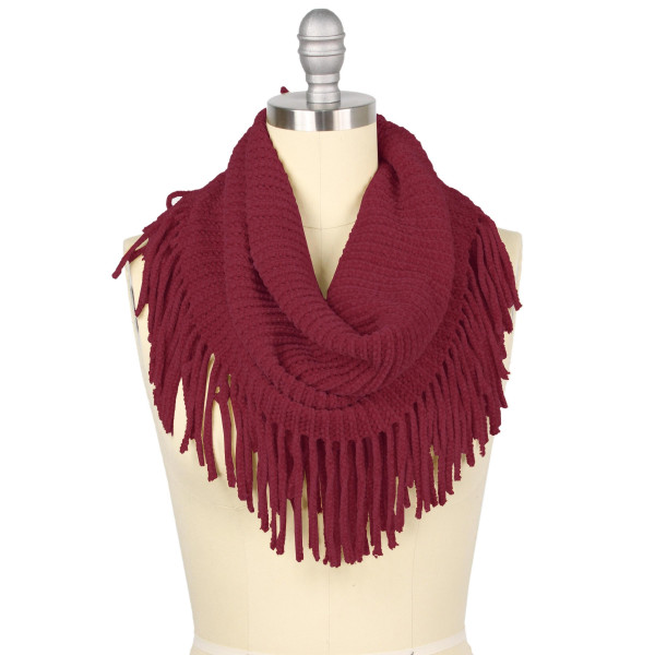 Wholesale two mini tube scarf fringes Loop Acrylic