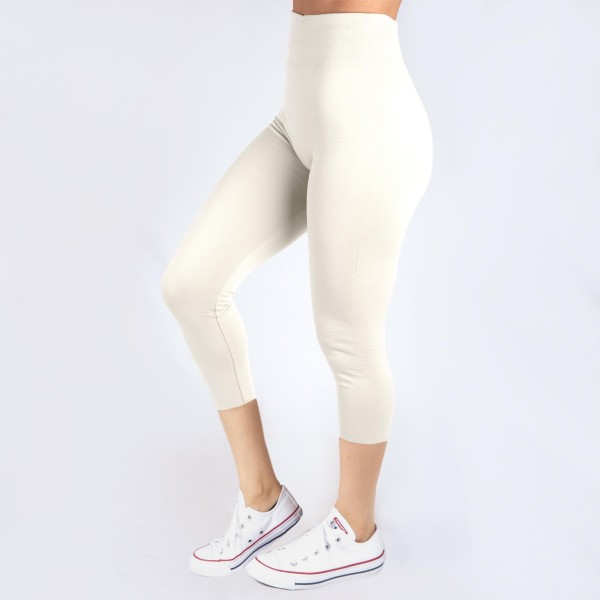 Wholesale kathy Mix white summer weight capris seamless chic must have every wa