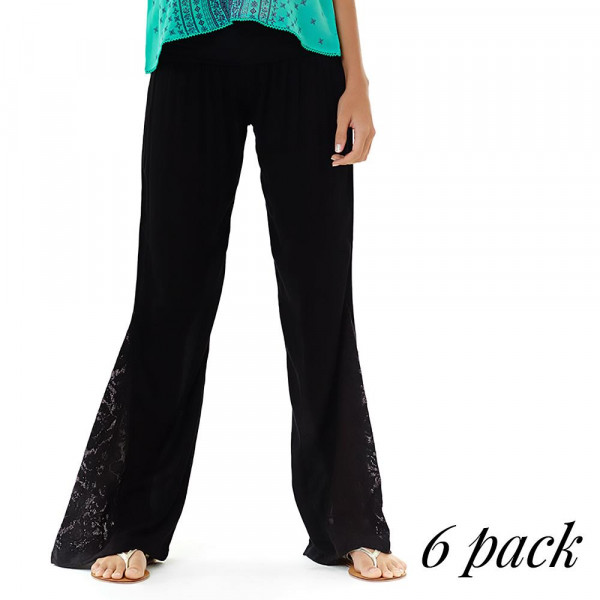 Wholesale electric Fiesta Pants Pack S M L XL Gauze pants crochet bell bottom fl