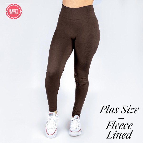 Wholesale pLUS Mix Brand full fleece lined winter weight leggings offered everyd