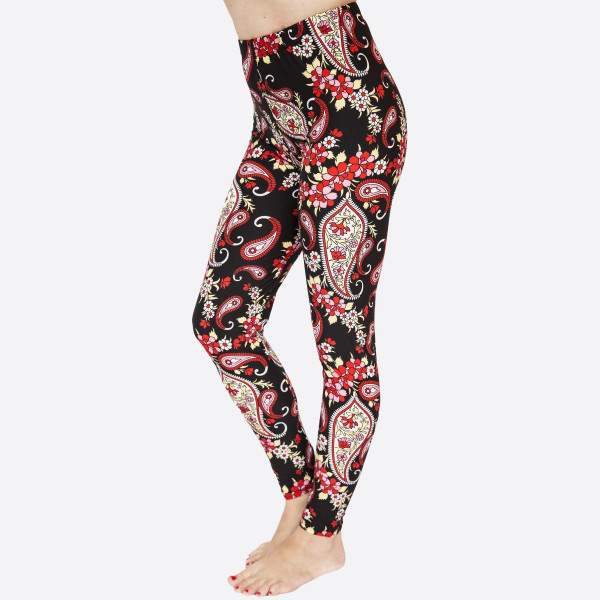 Wholesale kathy Mix printed peach skin leggings seamless chic must have every w