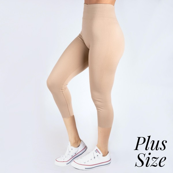 Wholesale pLUS Mix khaki summer weight capris seamless chic must have every ward