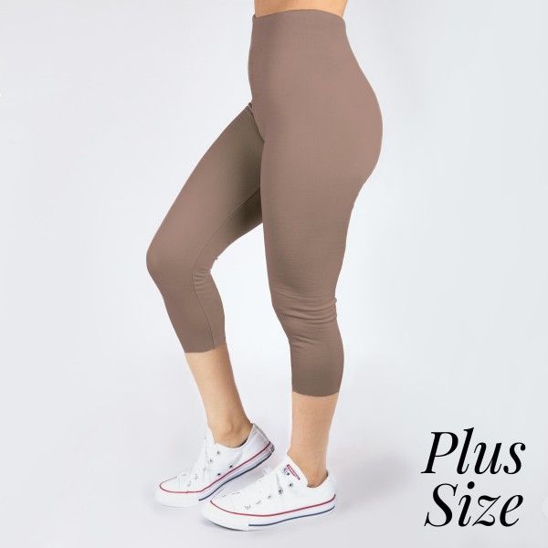 Wholesale pLUS Mix mocha summer weight capris seamless chic must have every ward