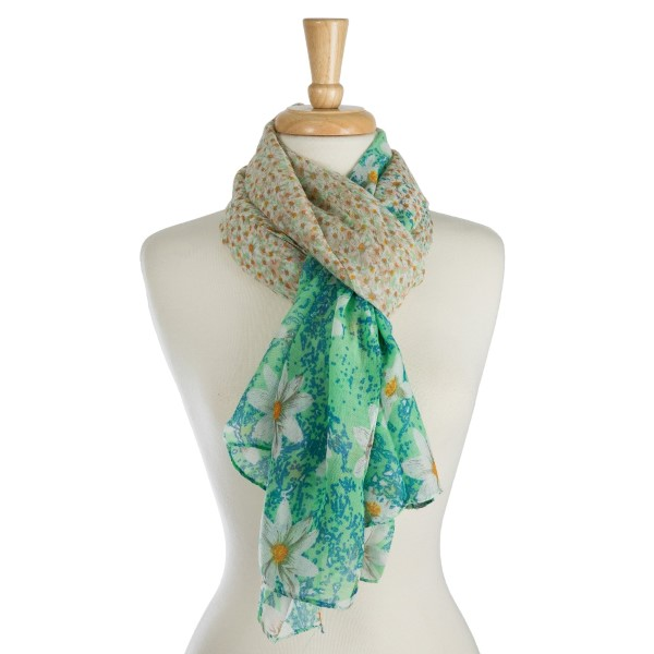 Wholesale lightweight open scarf floral print polyester