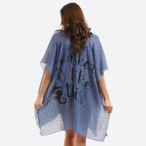 Wholesale lightweight kimono swimsuit cover up I Washed Up Like back viscose One