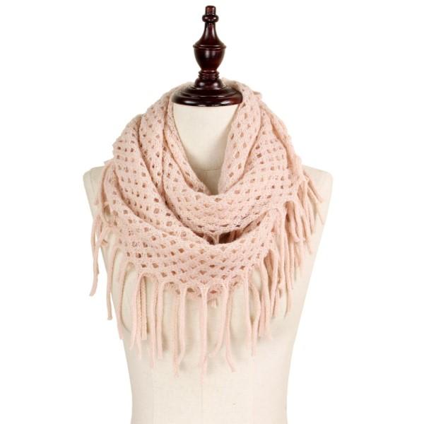 Wholesale lurex mix knit infinity scarf acrylic