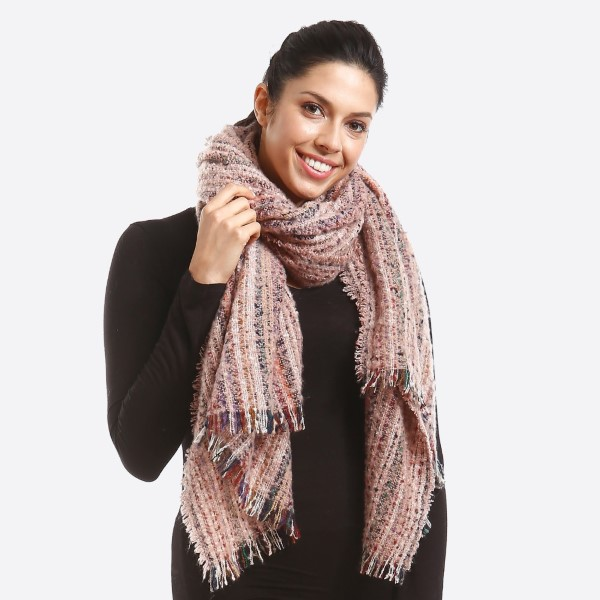 Wholesale multicolor textured scarf Polyester