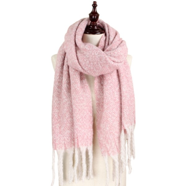 Wholesale brushed two scarf acrylic polyester W L