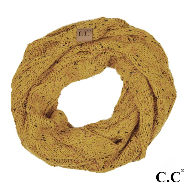 Wholesale c C SF Confetti knit cable infinity scarf Acrylic W L
