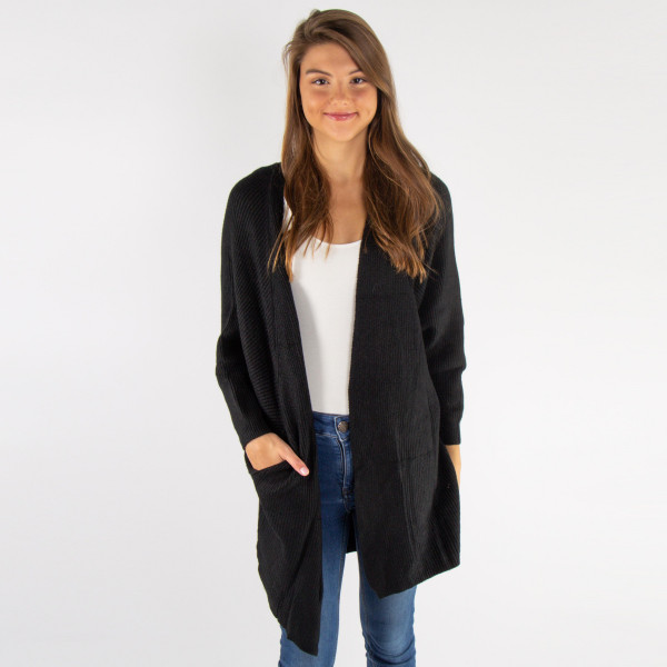 Wholesale light weight cardigan pocket details One fits most Acrylic