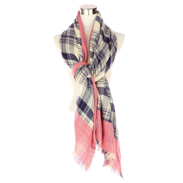 Wholesale plaid scarf acrylic