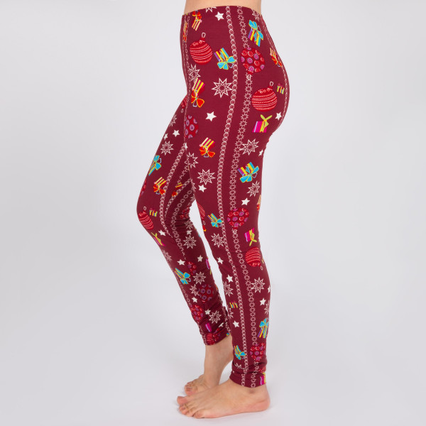 Wholesale mix printed Christmas peach skin leggings seamless chic must have eve