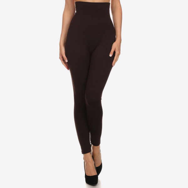 Wholesale waist Cotton Compression Leggings Tummy Control extra hold waist legg