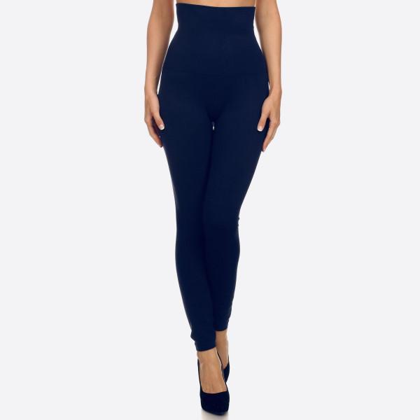 Wholesale waist Cotton Compression Leggings Tummy Control extra hold waist legg