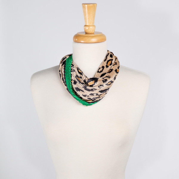 Wholesale light weight cheetah print scarf Denimson POLYESTER