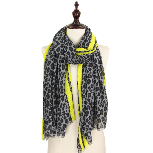 Wholesale leopard printed scarf polyester